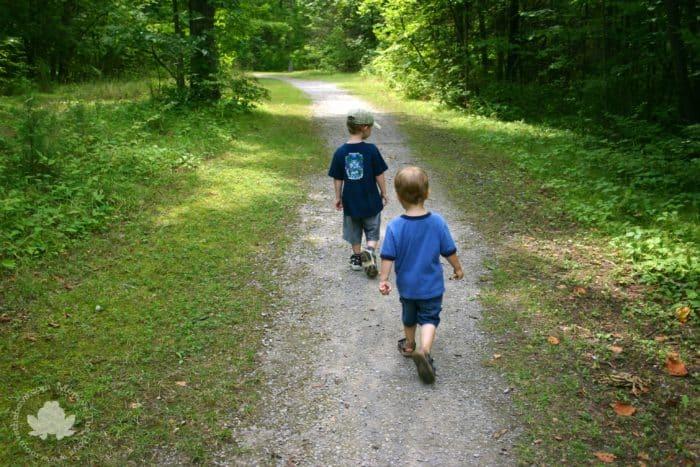 hike 2 boys