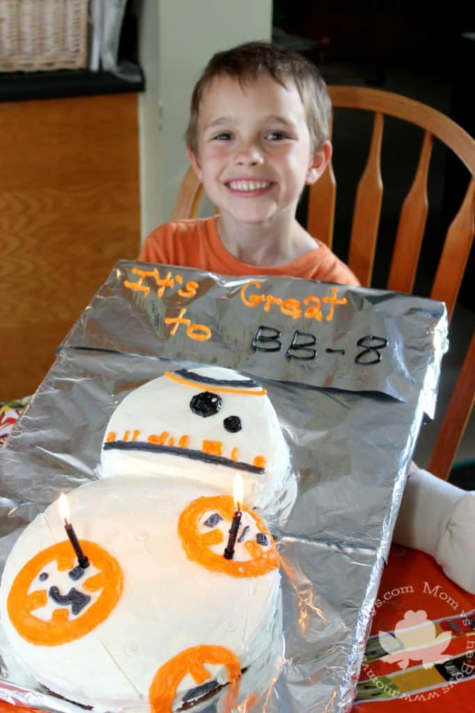 BB-8 Cake - Mom vs the Boys