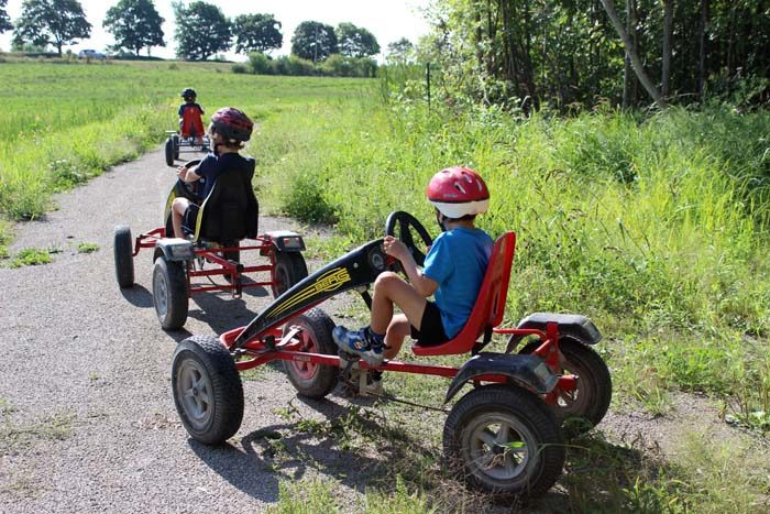 Peddle cars at Fern Resort