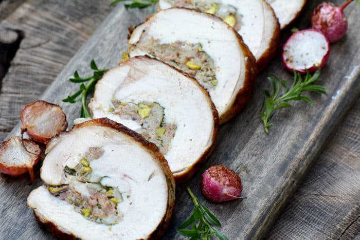 Sausage and Pistachio Stuffed Turkey Breast Roast Recipe