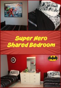 Superhero Shared Boys Bedroom