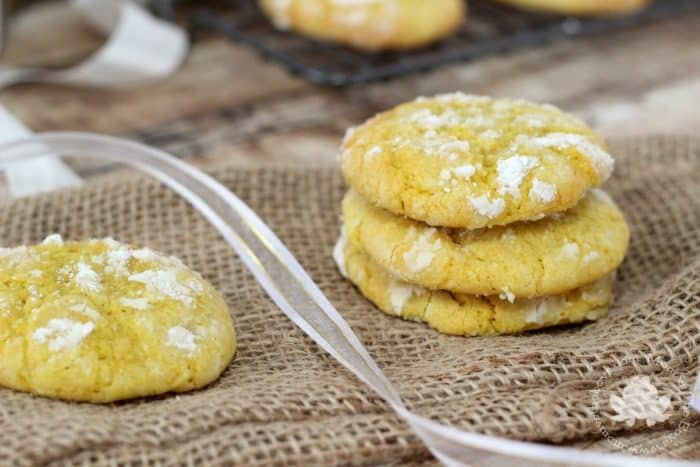 Lemon Crinkle Cookies - Mom vs the Boys