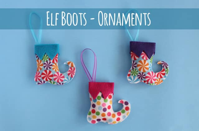 Elf Boot ornaments