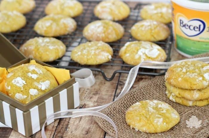 Lemon Crinkle Cookies - Mom vs the Boys