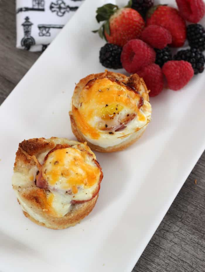Breakfast Toast Cups - Mom v the Boys