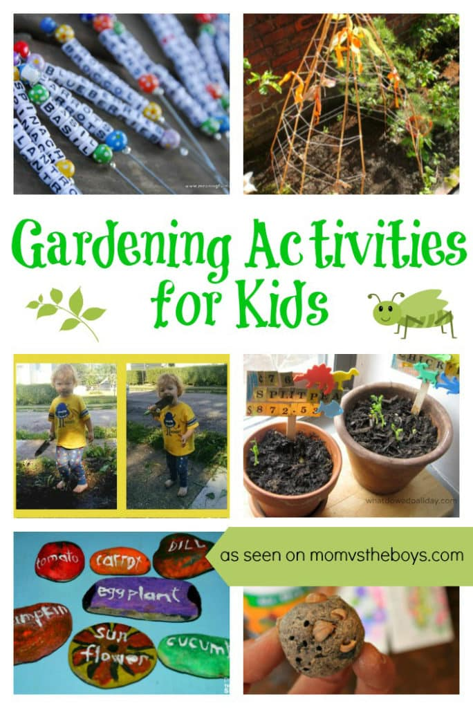 Gardening Activities for Kids - Mom vs the Boys