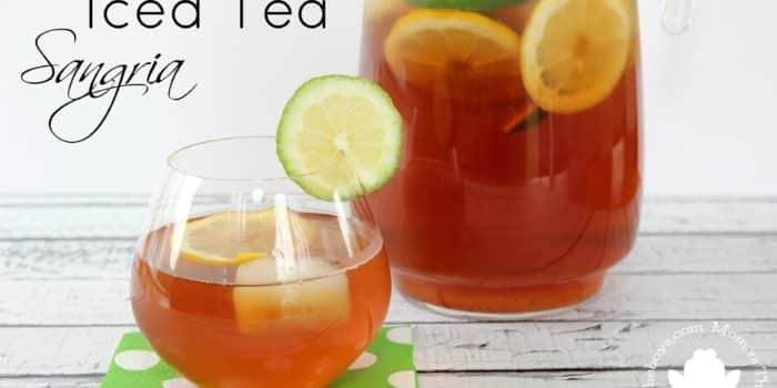 Iced Tea Sangria to kick off Summer