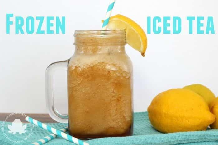 Frozen Iced Tea - Mom vs the Boys