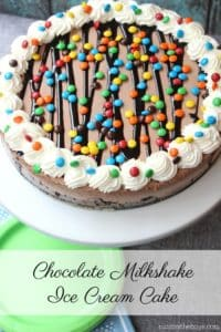 Chocolate Milkshake Ice Cream Cake