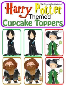 Harry Potter Themed Cupcake Toppers – Free Printable