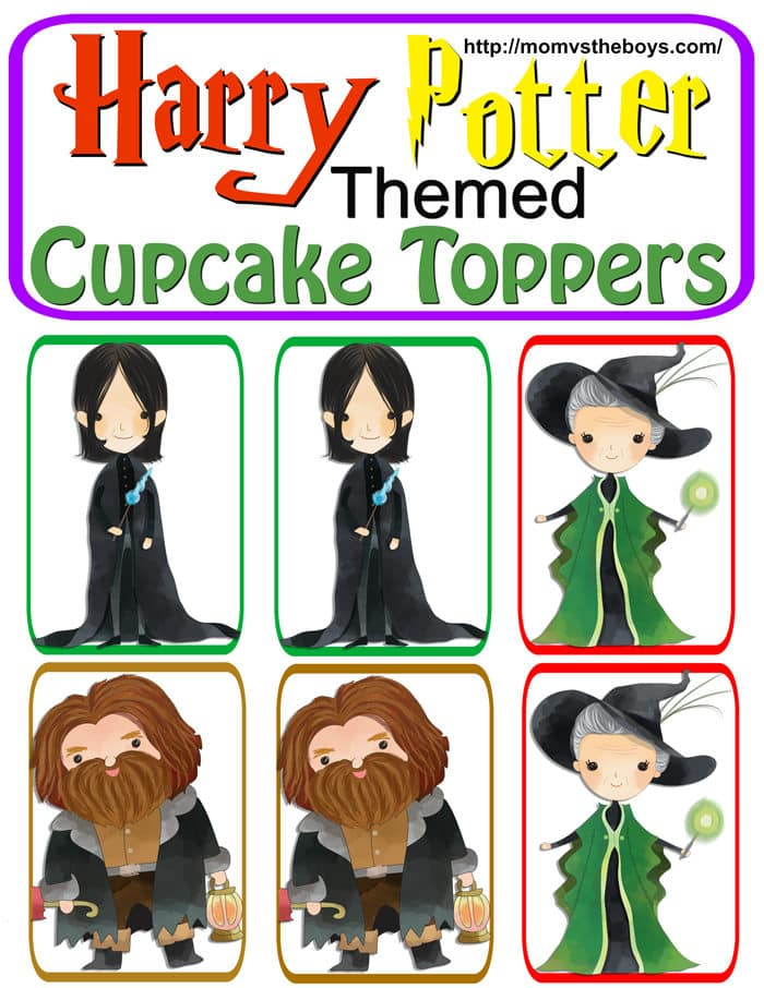 Harry Potter Cupcake Toppers, Free Printable - Mom vs the Boys