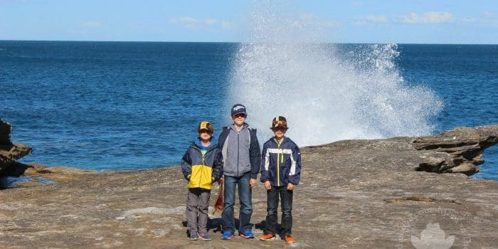 Things to do in Sydney with Kids. Mom vs the Boys   a boy is noise with dirt on it
