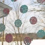 Colourful Paper Snowflakes