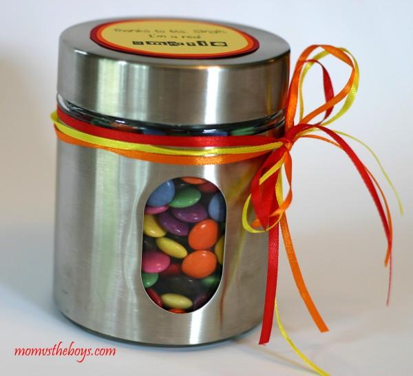 Teachers gift with Smarties