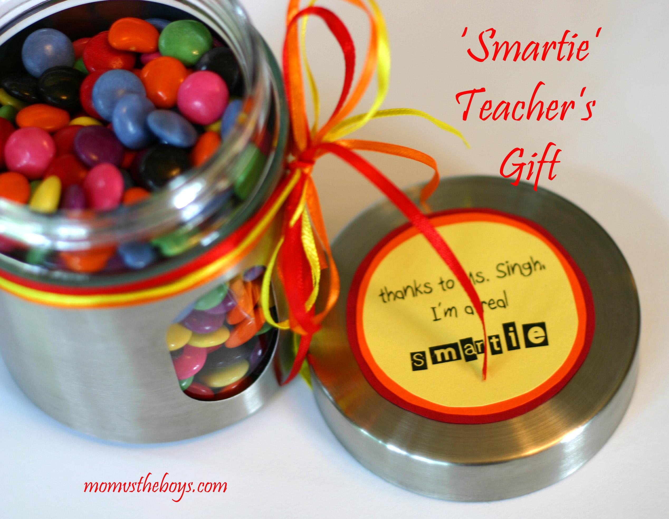 Teacher's Gift idea using Smarties