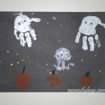 Halloween Handprint Ghosts