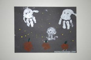 Halloween Handprint Ghosts