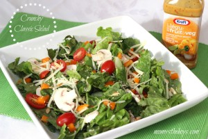 Crunchy Classic Salad with Kraft Pourables #NewPourables