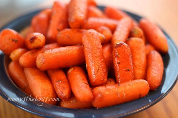 Balsamic honey glazed roasted carrots