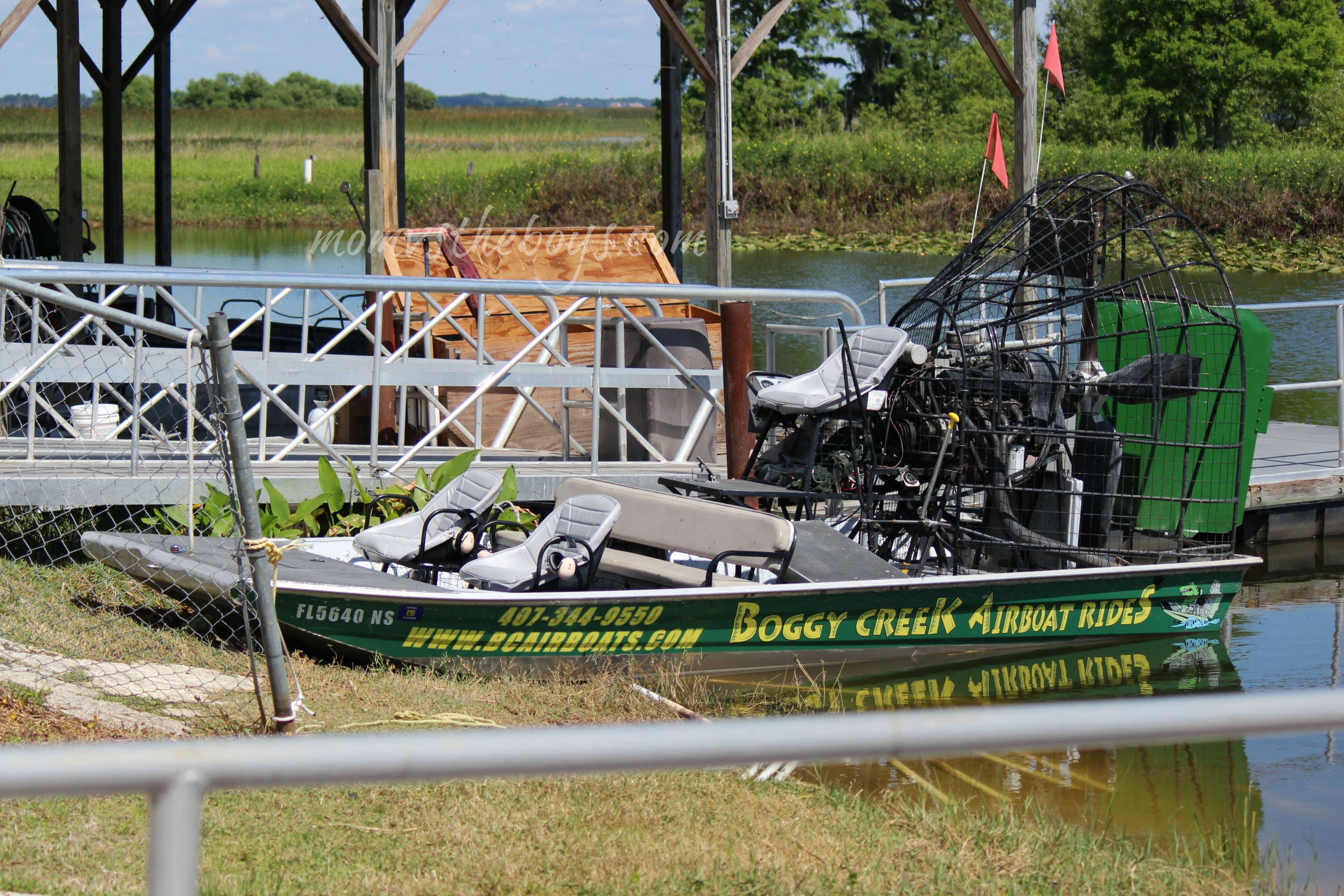 Boggy Creek Airboat Rides, Kissimmee Florida - Mom vs the Boys