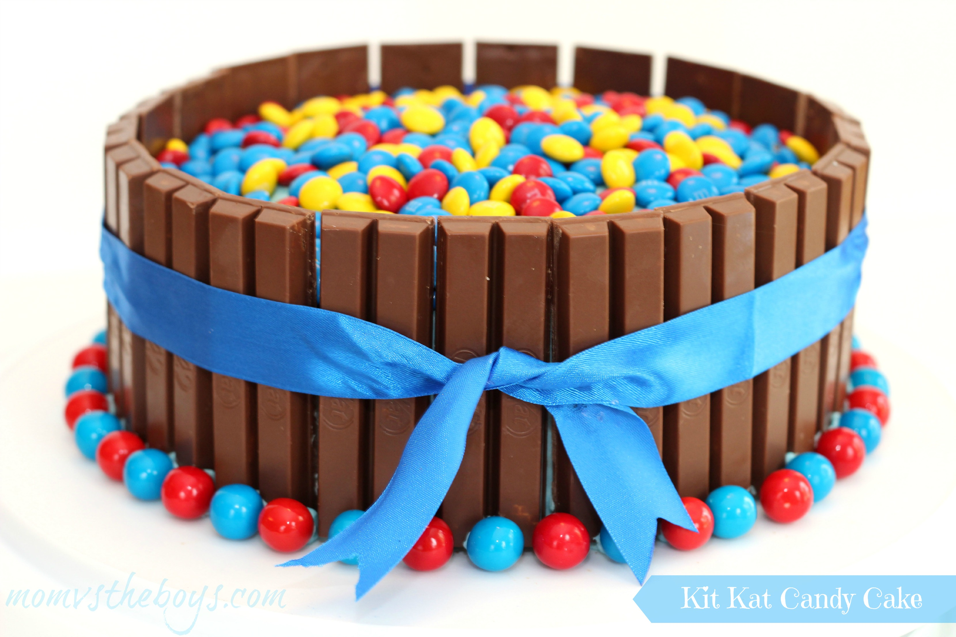 Birthday Kit Kat Cake for boys Mom vs the Boys