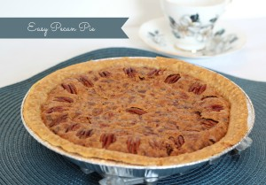 Easy Pecan Pie without the corn syrup
