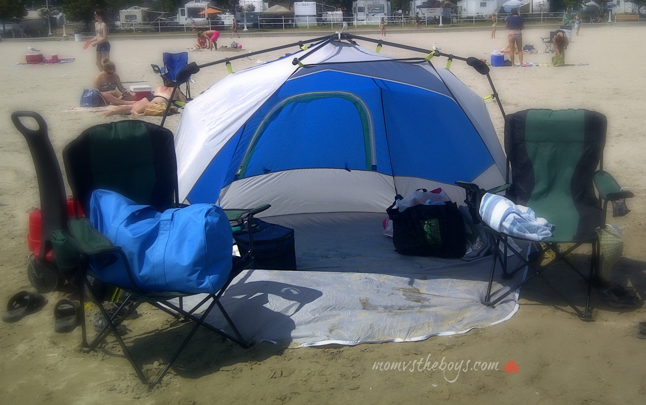 coleman instant shade & Coleman Instant Beach Shade - Mom vs the Boys