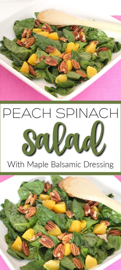 peach spinach salad