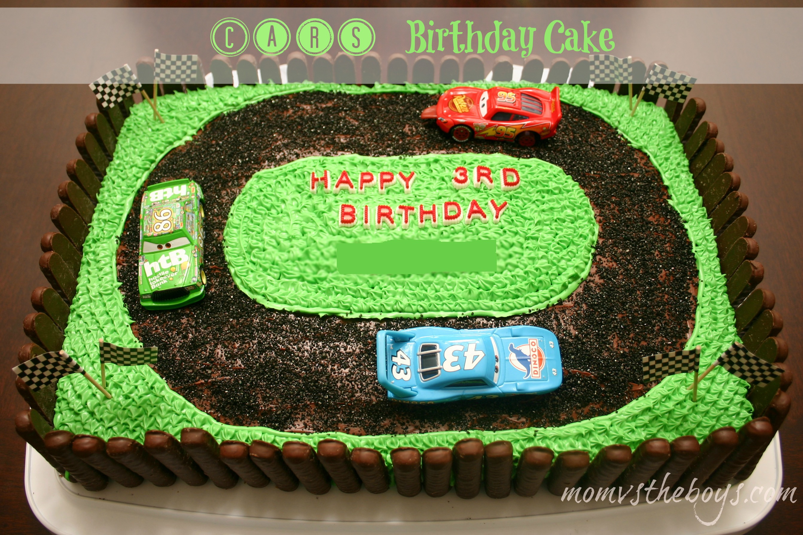 Cars Birthday Cake Instructions