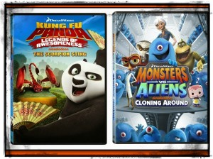 Monsters vs. Aliens: Cloning Around and Kung Fu Panda: Legends of Awesomeness – Scorpion Sting both available on October 15th! {Giveaway}
