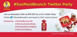 Join us at the #SunMaidBrunch Twitter Party November 20 at 9pm EST