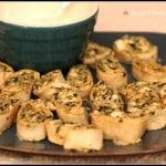 Warm Greek Pinwheel Appetizers