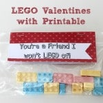 LEGO Valentines with Printable