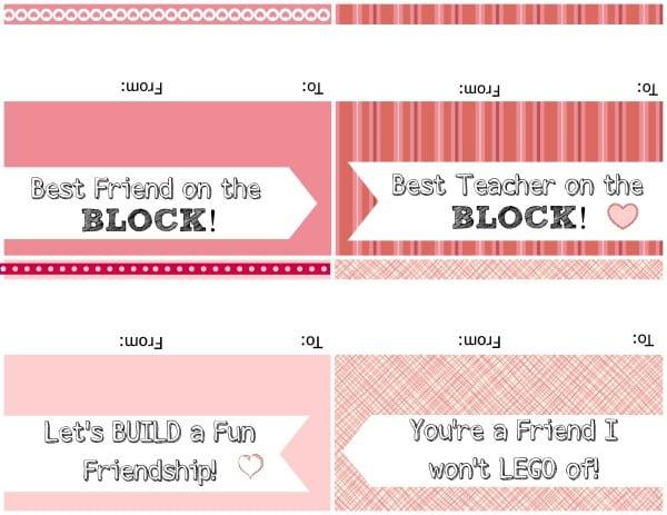 LEGO valentines 2