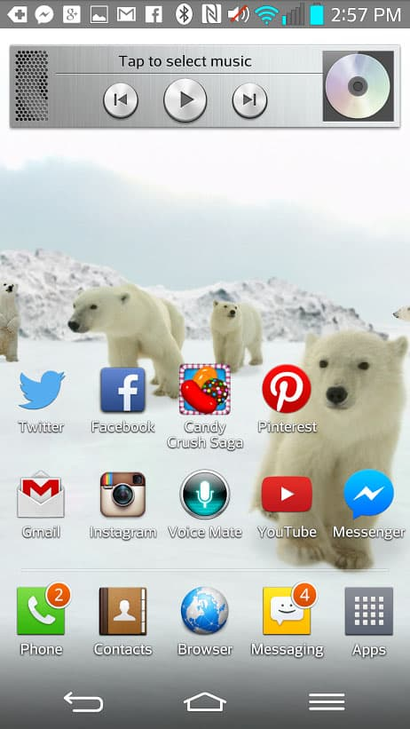 LG G2 Screenshot