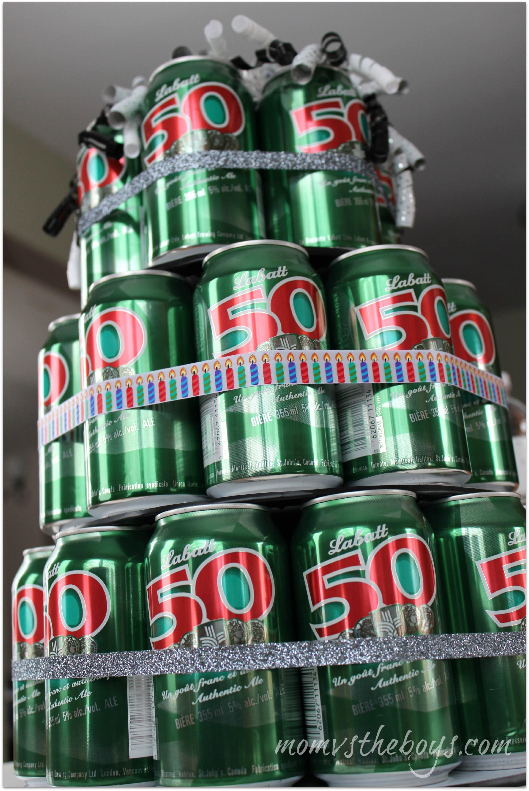 How To Make A Beer Can Cake Mom Vs The Boys