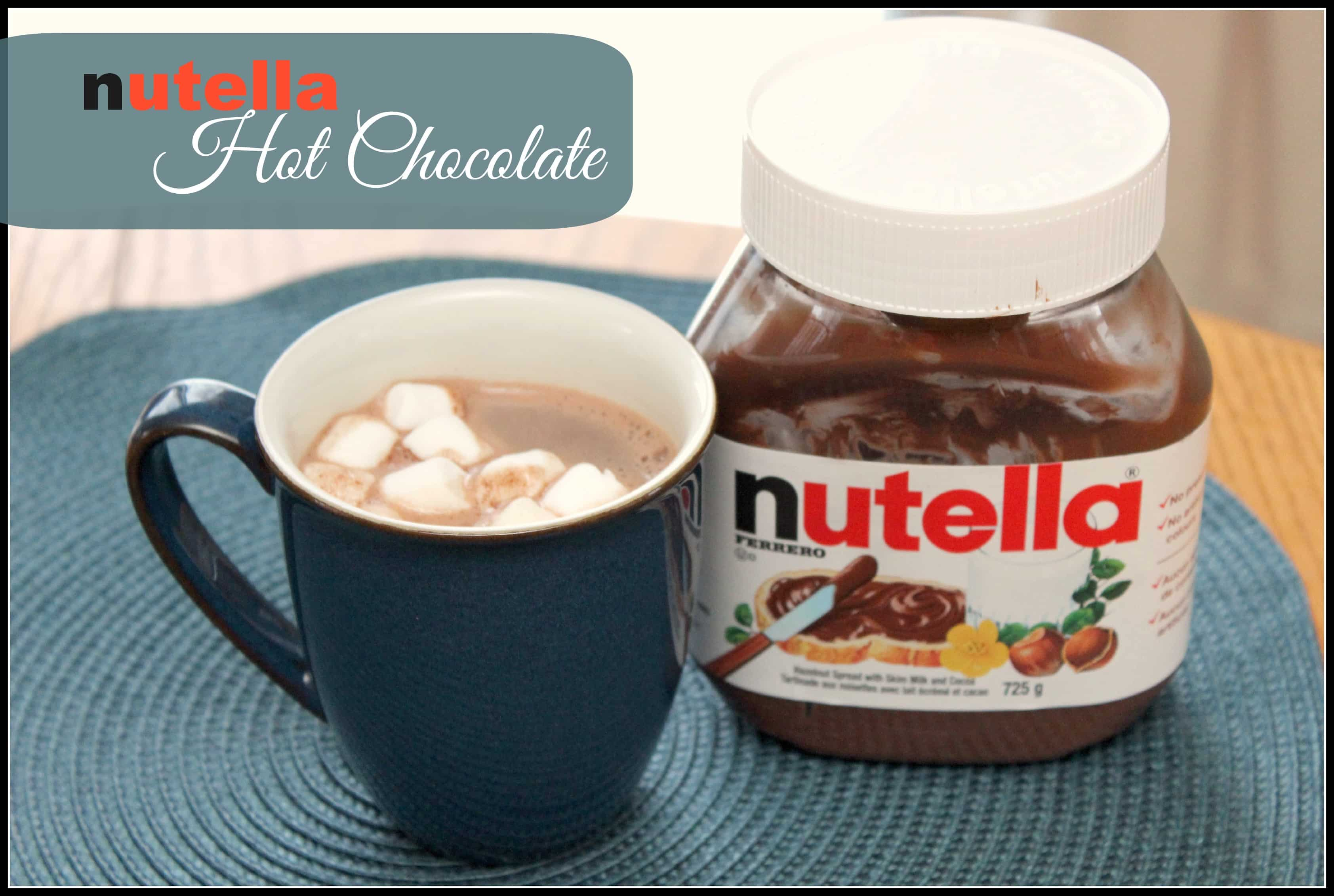 nutella hot chocolate. Nutella Hot Chocolate   Mom vs the Boys