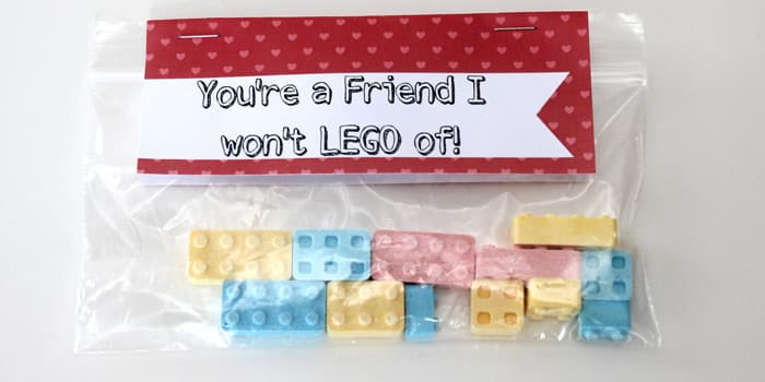 LEGO Valentines with Free Printable