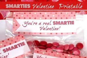 Smarties Valentine Treats with Free Printable