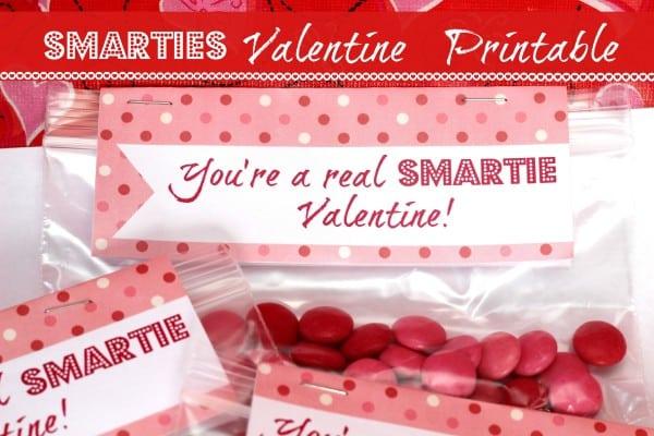 smarties valentine with free printable - mom vs the boys