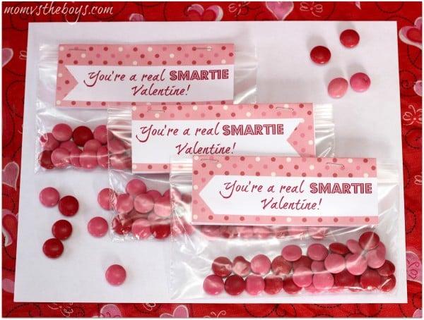 smartie valentine printable
