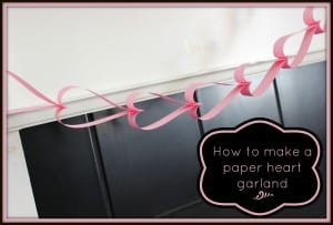 How to make a Paper Heart Chain Garland