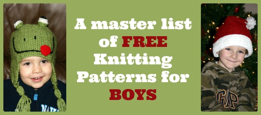 A Master List Of Free Knitting Patterns For Boys Mom Vs The Boys