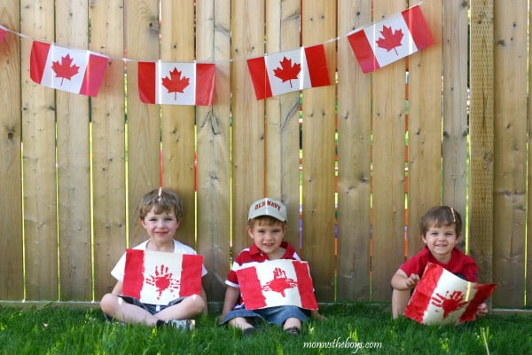 Canada Day Handprint Flags