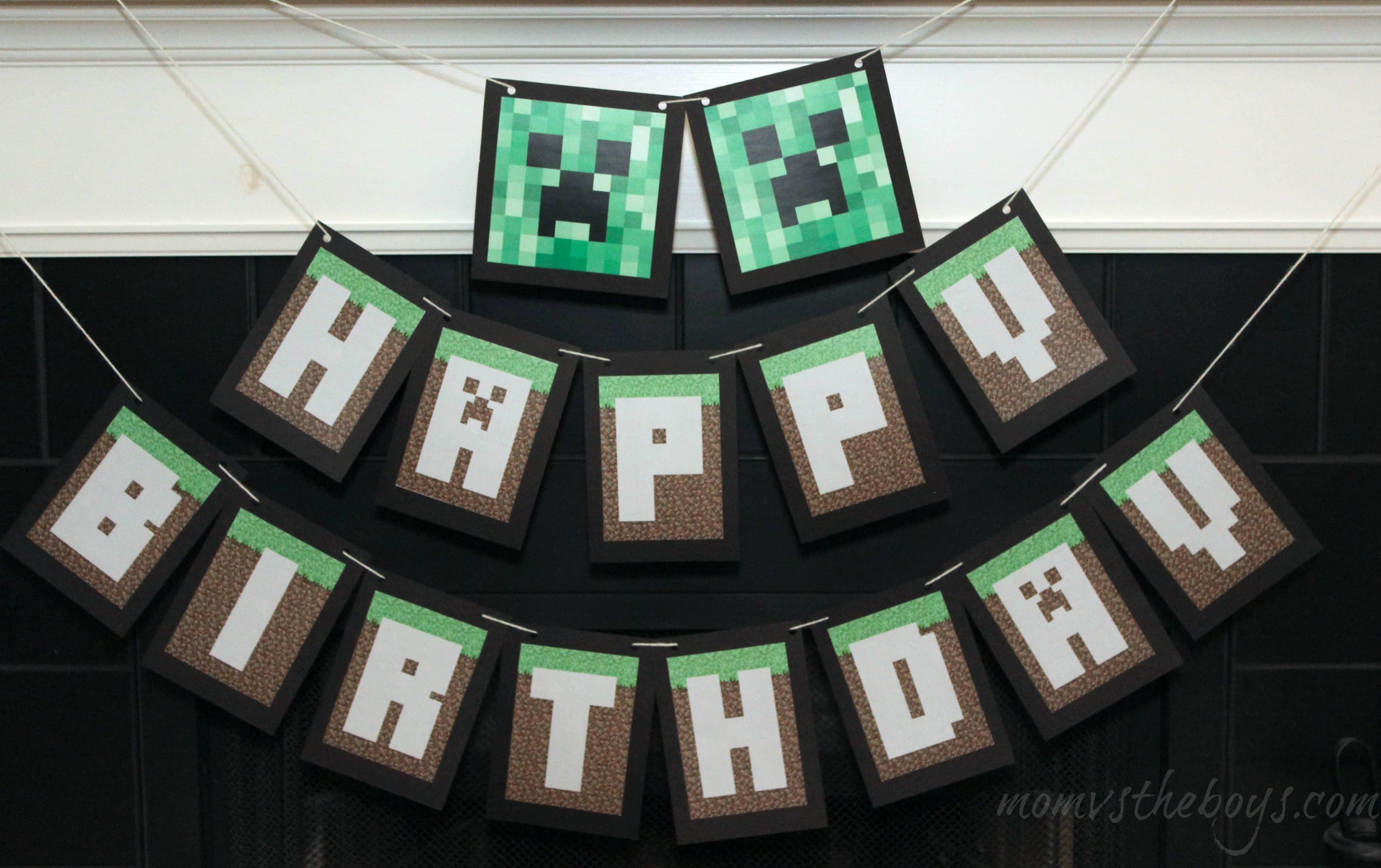 Free Birthday Printables Boy ~ Minecraft birthday party ideas mom vs the boys