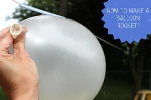 How to make a fun Balloon Rocket to curb Summer Boredom