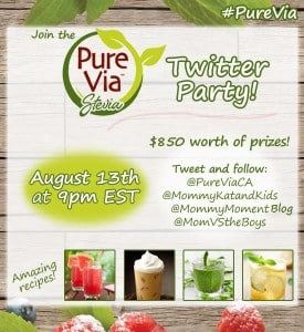 Get Ready for the #PureVia Twitter Party August 13 at 9pm EST