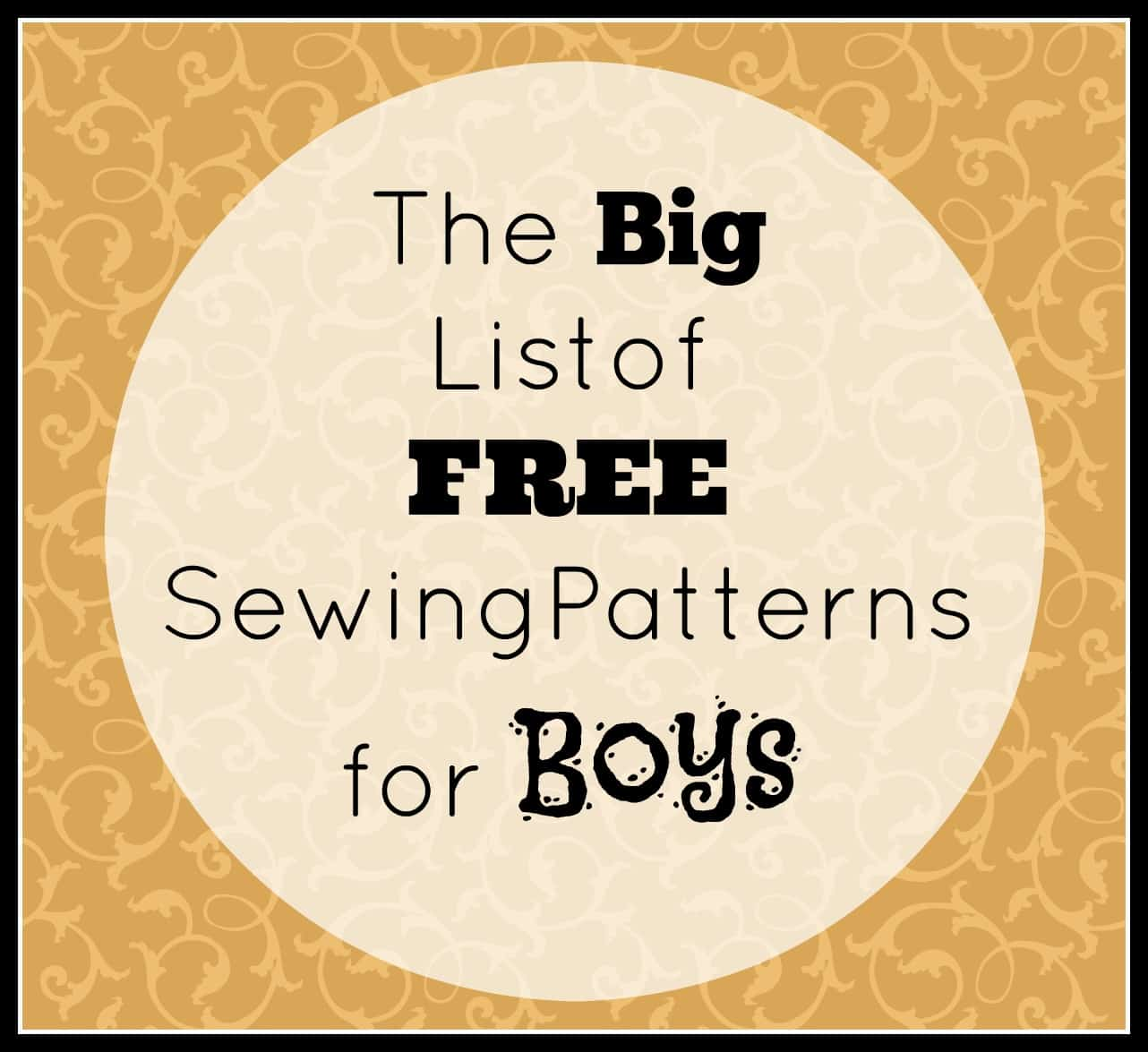 Big list of free sewing patterns for boys the big list of free sewing patterns for boys jeuxipadfo Gallery