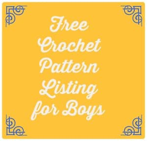 free crochet patterns for boys