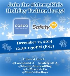 #MerryKids Twitter Party Thursday, December 11th at 12:30pm EST